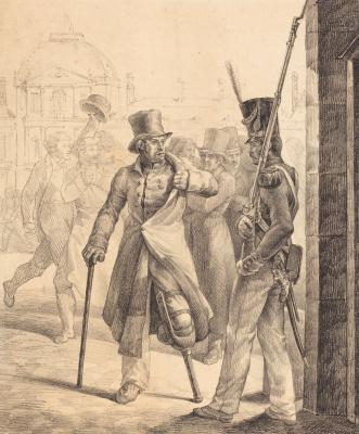 Théodore Géricault. Swiss sentry in the Louvre