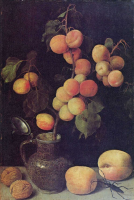 Georg Flegel. Branch with fruits of peach