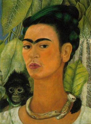 Frida Kahlo. Self-portrait with monkey