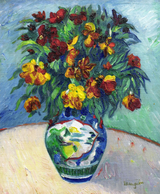 Wallflowers in a Chinese vase. 1903