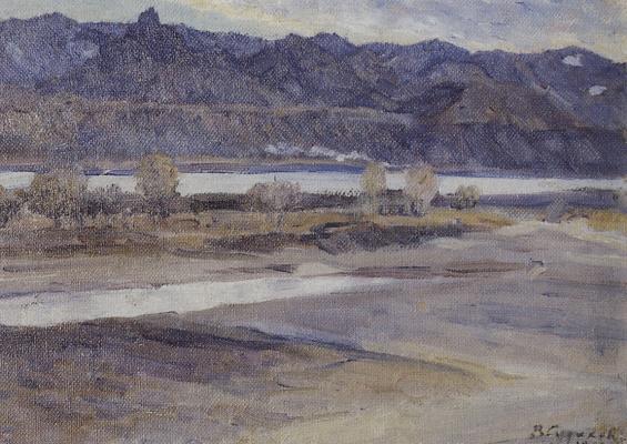 Vasily Ivanovich Surikov. Mountains near Krasnoyarsk
