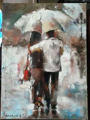 Olga Yuryevna Serebrova-Artes. Under rain