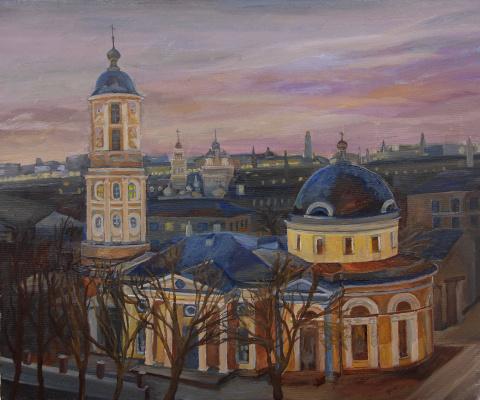Tatiana Mykolaivna Motherland. At dawn