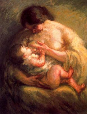 Рикард Каналы. Мать  с младенцем