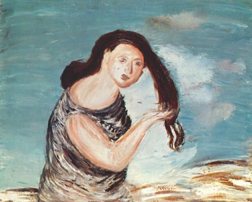 Древин. Женщина с длинными волосами