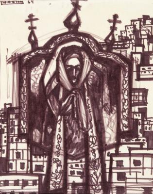 Oscar Yakovlevich Rabin. Self-portrait
