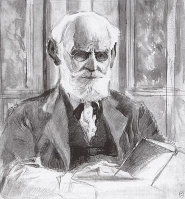 Mikhail Vasilyevich Nesterov. Ivan Petrovich Pavlov. Sketch
