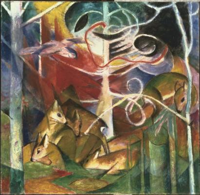 Franz Marc. Deer in forest I