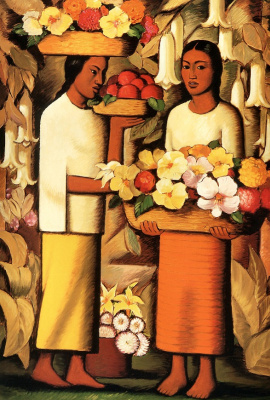 Alfredo Ramos Martinez. Woman with flowers