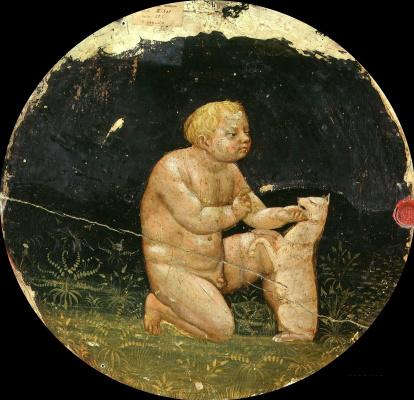 Tommaso Masaccio. Putto with dog