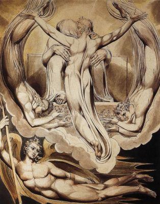 William Blake. Christ atones for the sins of mankind