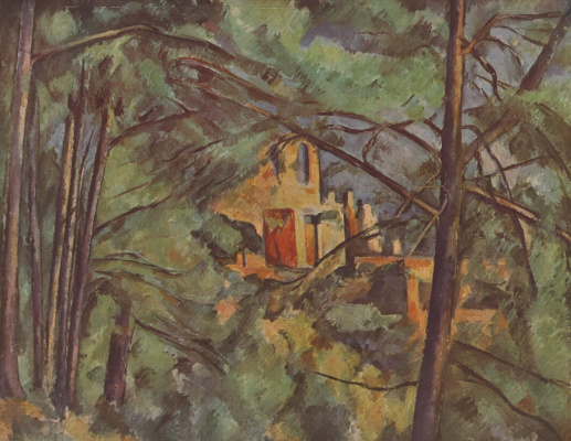 Paul Cezanne. Black castle behind the trees