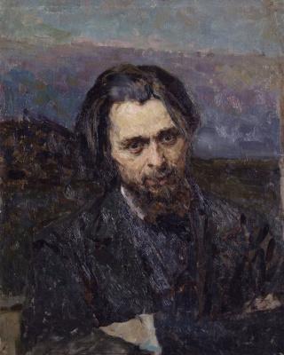 Кириак Константинович Костанди Украина 1852−1921. Портрет художника К. Н. Кудрявцева. 1883-1884