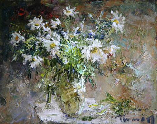 Tuman Art Gallery Tumana Zhumabayeva. Bouquet of daisies