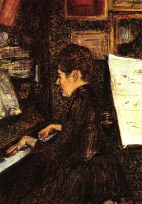 Henri de Toulouse-Lautrec. Mademoiselle Duo for piano