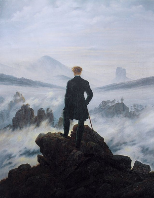 Caspar David Friedrich. The wanderer above the misty sea