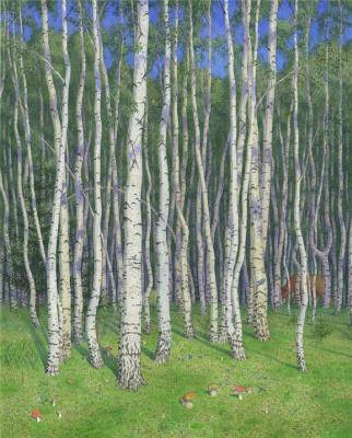 Alexander Leonidovich Mukhin-Cheboksary. Russian forest
