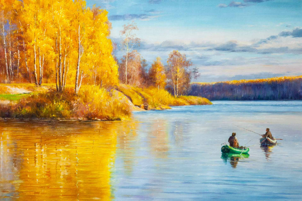 Alexander Romm. Autumn fishing