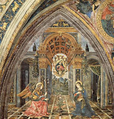 Pinturicchio. The Annunciation Of The Virgin