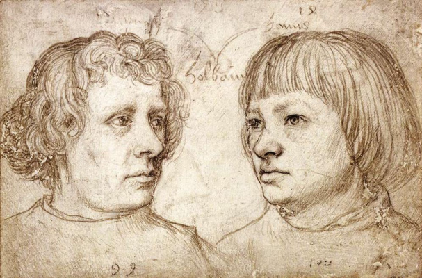 Hans Senior Holbein. Ambrose and Holbein