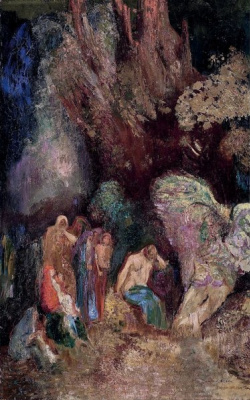 Odilon Redon. The enchanted grotto