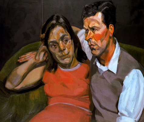 Lucien Freud. Michael Andrews and June