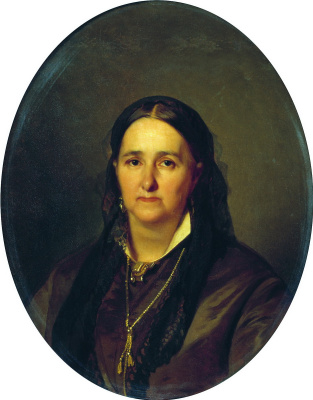 Ivan Kuzmich Makarov. Portrait of P. V. Karpova. 1886