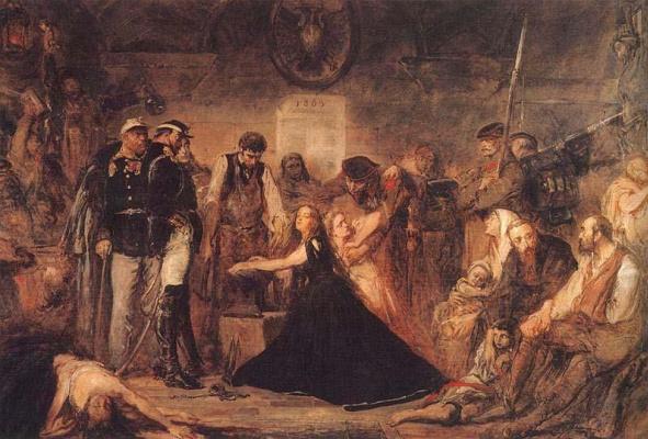 Ян Матейко. Закованная Польша (Пленница неудавшегося восстания 1863 года)