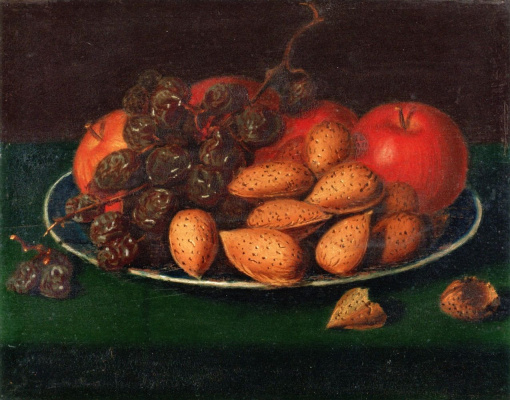 Raphaelle Peale. Fruits, nuts and grapes