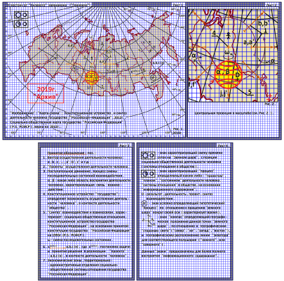 "Arthur Gabdrupes. ""Image"": ""Map-scheme""; The constitutional structure and synthesis of human activities of the state ""Russian Federation"" (RSFSR), 2012 . PS ""Archive"", 2019 (f1)"