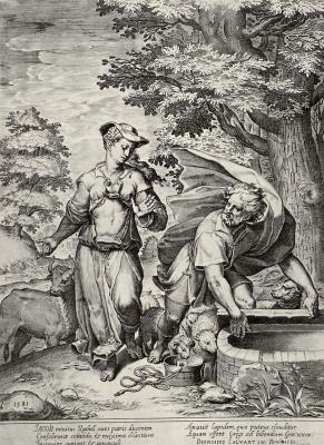 Агостино Карраччи. Иаков и Рахиль у колодца