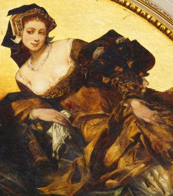 Hans Makart. Hans Holbein. Fresco fragment