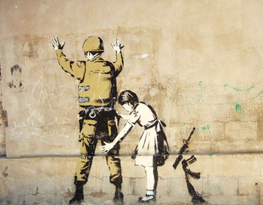 Banksy. Stay and look