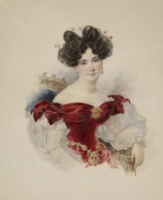 Portrait of Countess N. N. Stroganova. Early 1830s