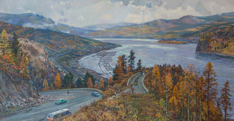 Toivo Vasilevich Ryanel. Over the Yenisei