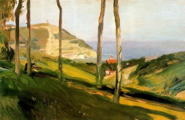 Joaquin Sorolla (Soroya). Landscape in San Sebastian