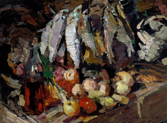 Konstantin Korovin. Fish, wine and fruit