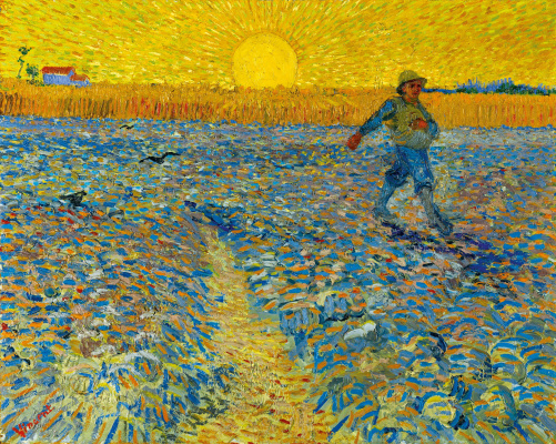 Vincent van Gogh. The sower and the sunset