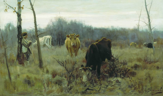 Alexey Stepanovich Stepanov. In the pasture