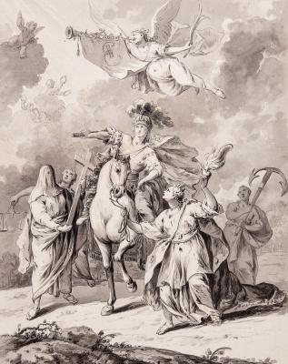 Гавриил Игнатьевич Козлов. Аллегория на восшествие императрицы Екатерины II на престол