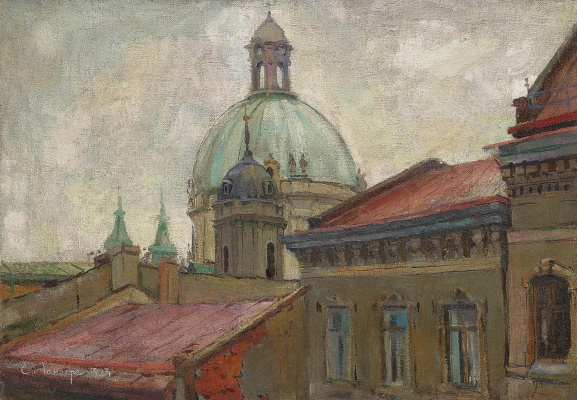Evgeniy Evgenievich Lansere. View of the Ivanovo Monastery, Moscow