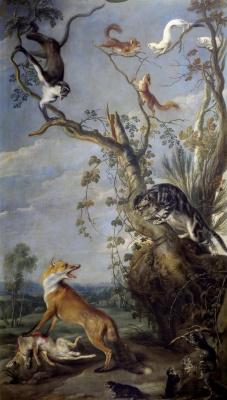 Франс Снейдерс. Кот и лиса