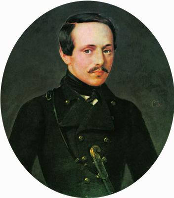 Сергей Константинович Зарянко. Portrait of poet M. Y. Lermontov. Not earlier than 1842