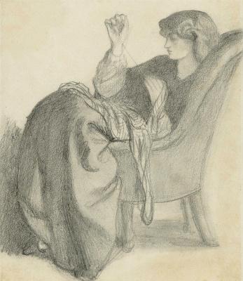 Dante Gabriel Rossetti. Jane Morris for sewing