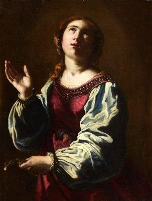 Artemisia Gentileschi. Holy Apollonius