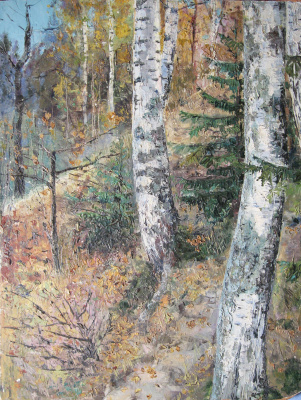 Vladimir Vasilyevich Plastinin. Sushnevsky birches in October