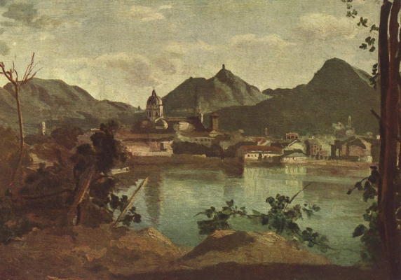 Camille Corot. City and Lake Como