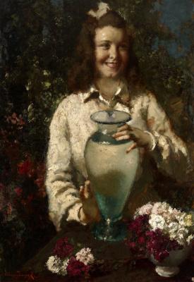 Alexey Vladimirovich Isupov. A girl with a vase.