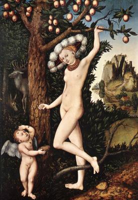 Лукас Кранах Старший. Амур жалуеться Венере