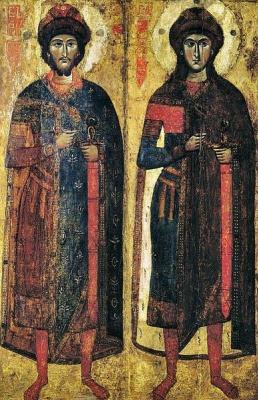 Russian Icon. Boris and Gleb